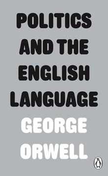 Politics and the English Language cover