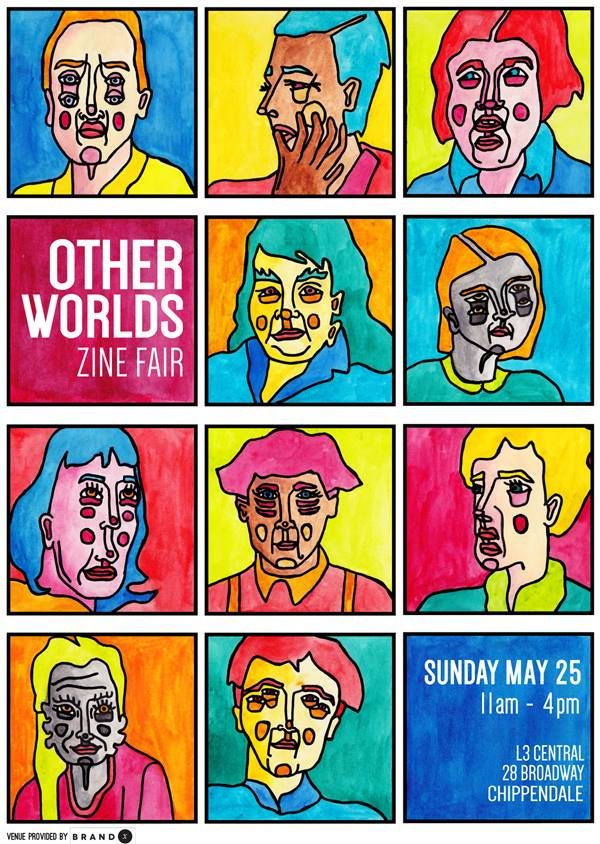 Other Worlds Zine Fair Poster